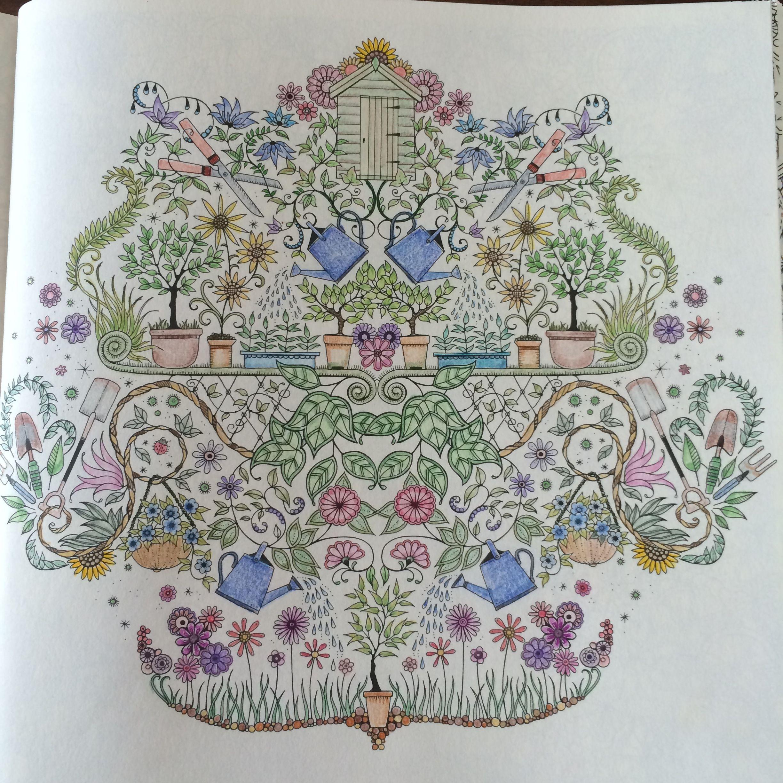 Kleurplaten Voor Volwassenen Mijn Geheime Tuin.Inspiratie Uit Het Kleurboek Mijn Geheime Tuin Kleuren Voor