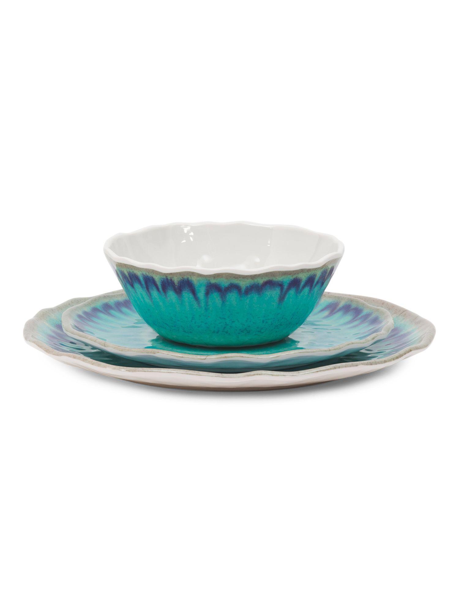 12pc Sea Splash Outdoor Dinnerware Set | Products | Pinterest ...