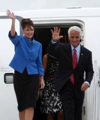 Crist 2008: Sarah Palin more qualified to be president than Barack Obama >>   Poor Charlie. He's looking for a place to be relevant now that he has been rejected by conservatives. He will be speaking at the DNC for Obama, but let's go back to 2008 and remember when he said that Palin was more qualified than Obama.