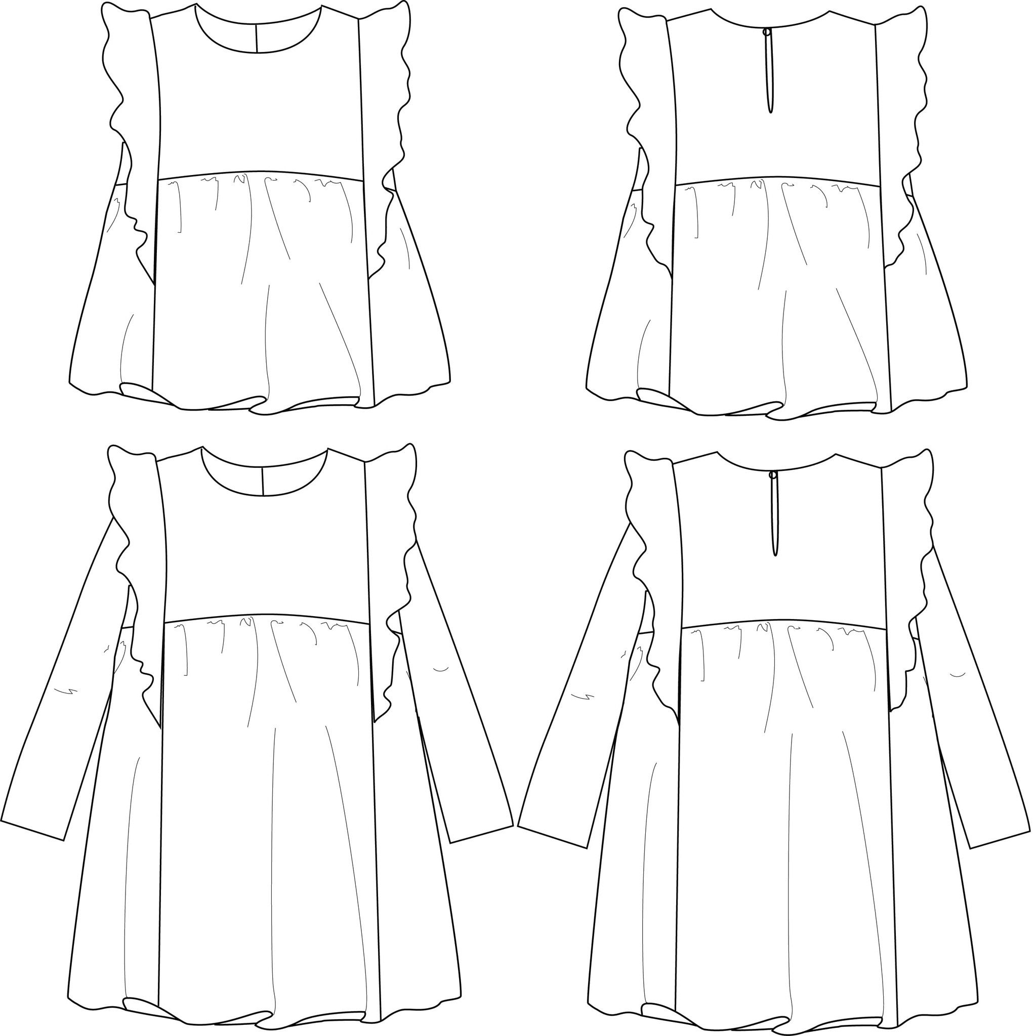 Stella DUO Blouse & Dress - Girl 3/12 - PDF Sewing Pattern | moda ...