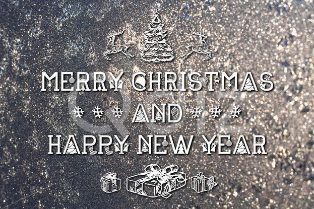 Qdiz Stock Photos   Merry Christmas and New Year greeting card,  #background #blur #blurred #card #celebration #Christmas #draw #drawing #eve #frozen #gray #greeting #hand #holiday #Merry #new #postcard #retro #season #silver #snowflake #traditional #vintage #winter #xmas #year