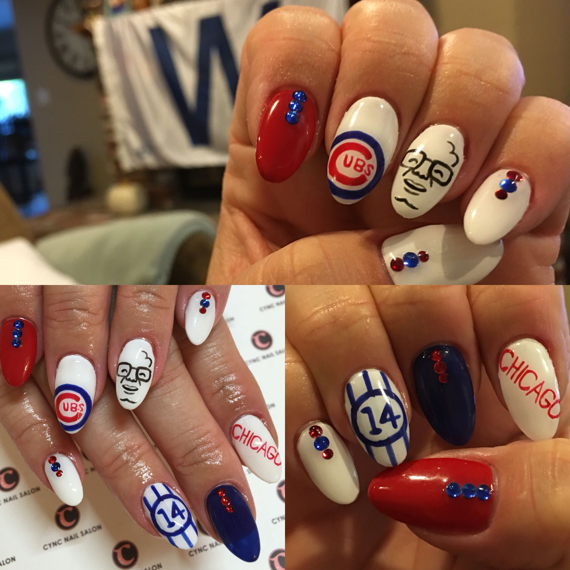 Chicago Cubs nails/manicure from Cync Nail Salon in Torrance, CA ...