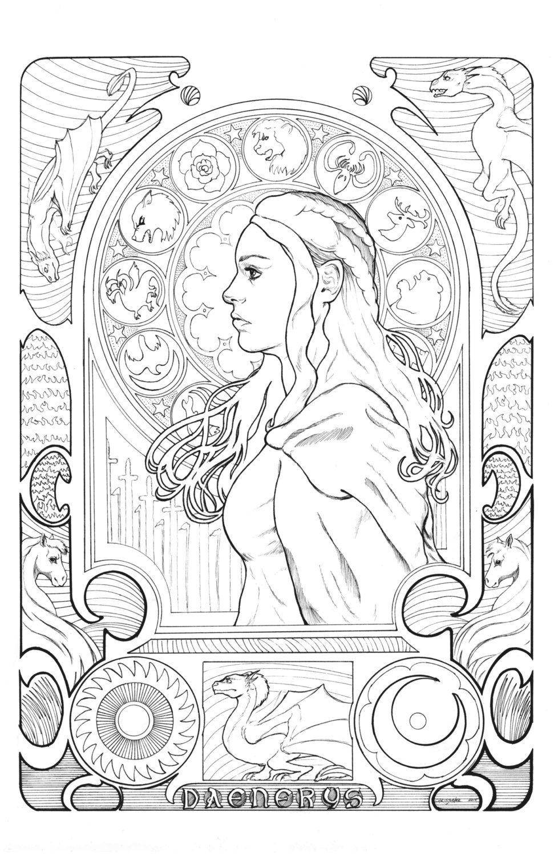 Daenerys Targaryen By Ryan Best Comic Art Game Of Thrones Comic Art