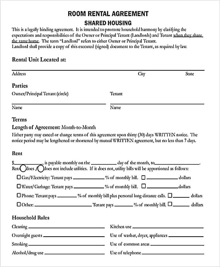 Room Rental Agreement Pdf Free Download Room Rental Agreement Rental Agreement Templates Roommate Agreement