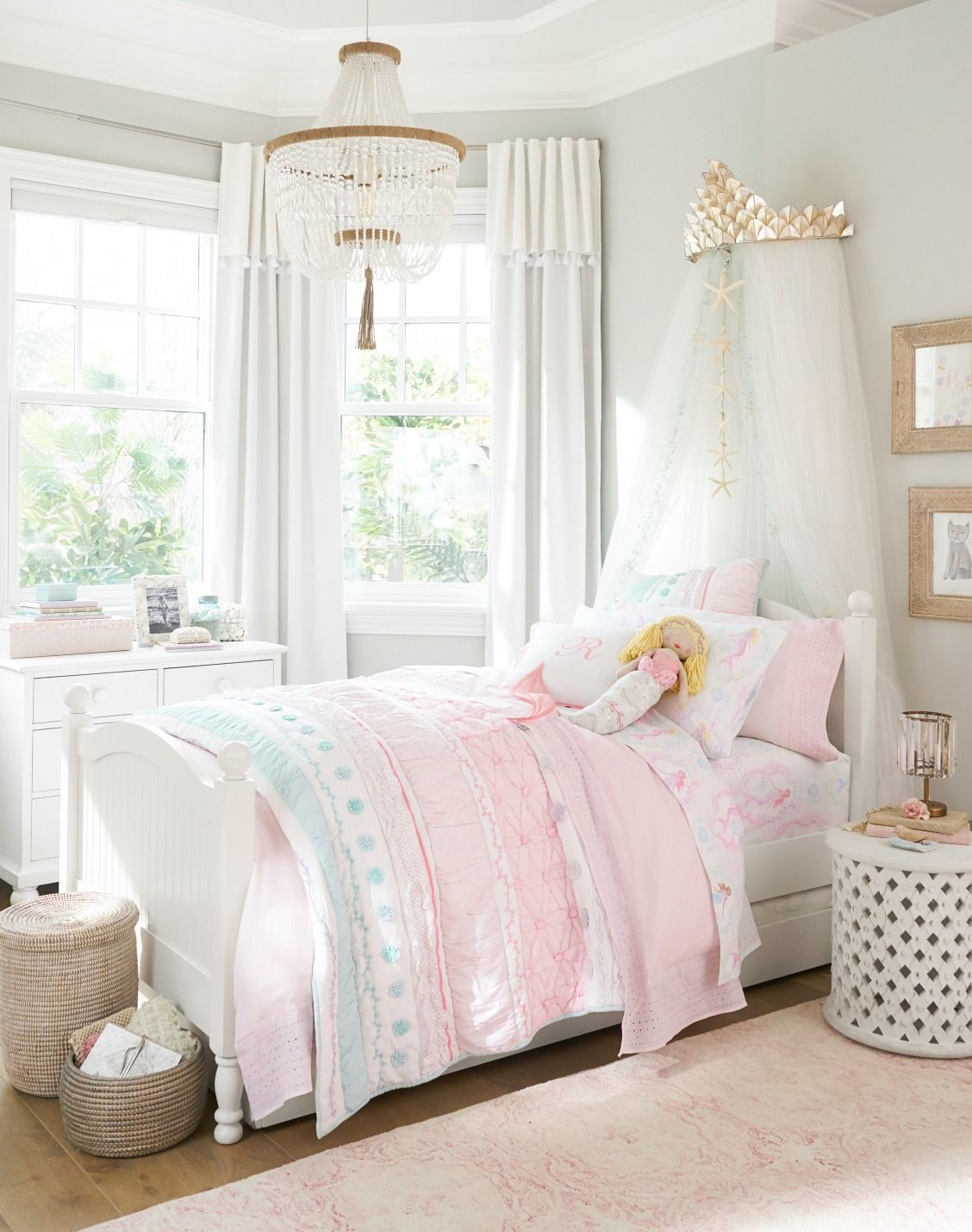 Bailey Ruffle Reversible Quilt Girl bedroom designs
