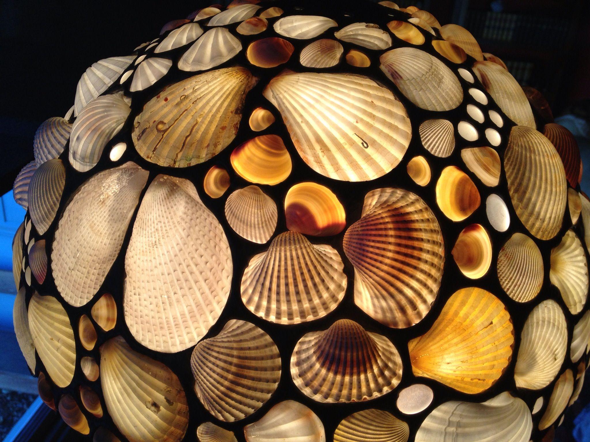 Desiree gillingham shellshades detail of mono white shellshades detail of mono white seashell lampshade mozeypictures Images