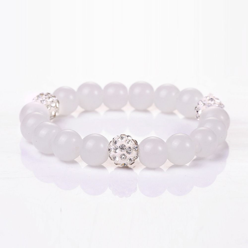 Click to buy ucuc j store natural stone crystal beads bracelets for