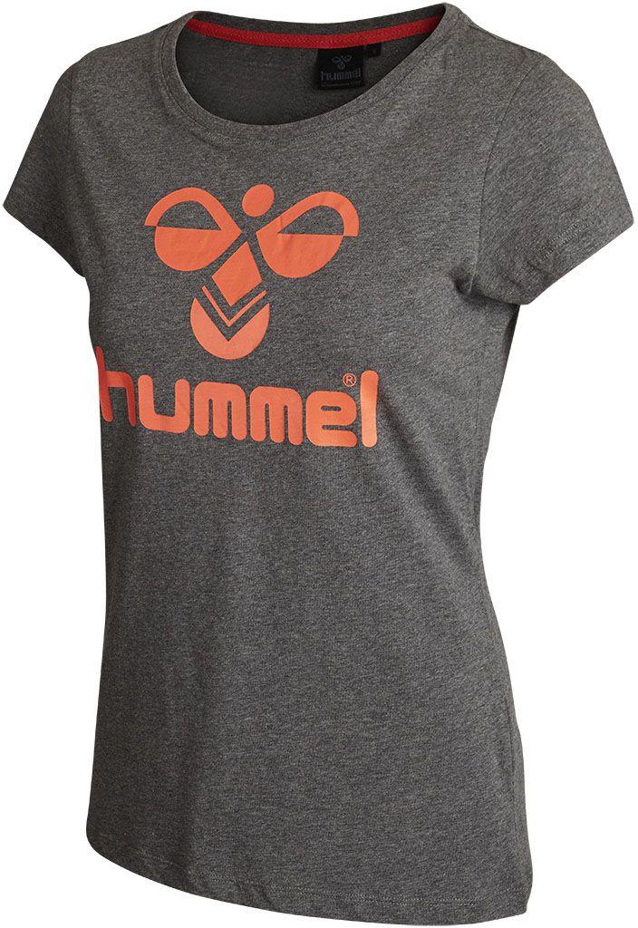 Hummel Classic Bee Women S T Shirt Dark Grey Hot Coral Im Handball Shop Gunstig Bestellen