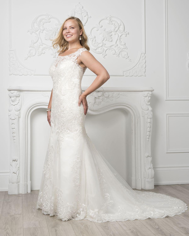 Elegant plus size wedding dress from Jacqueline's Bridal
