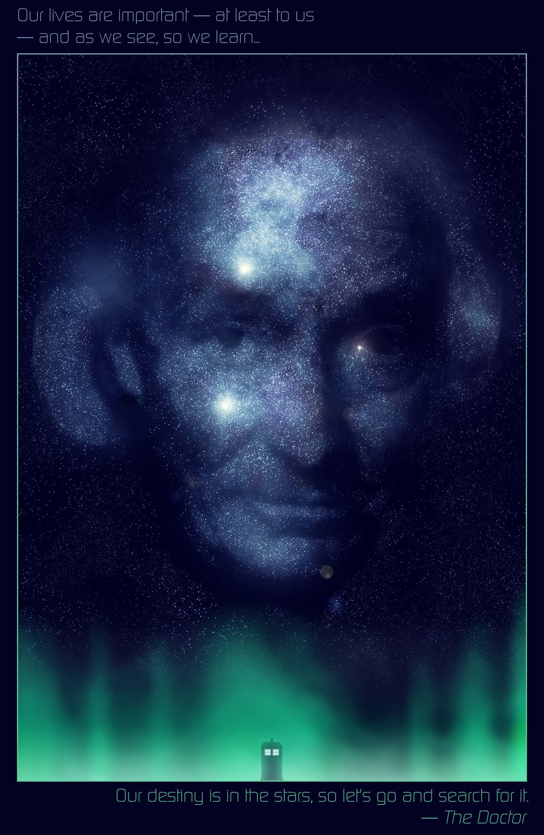 abelmvada Doctor Who - William Hartnell in the Stars by Abel M'Vada