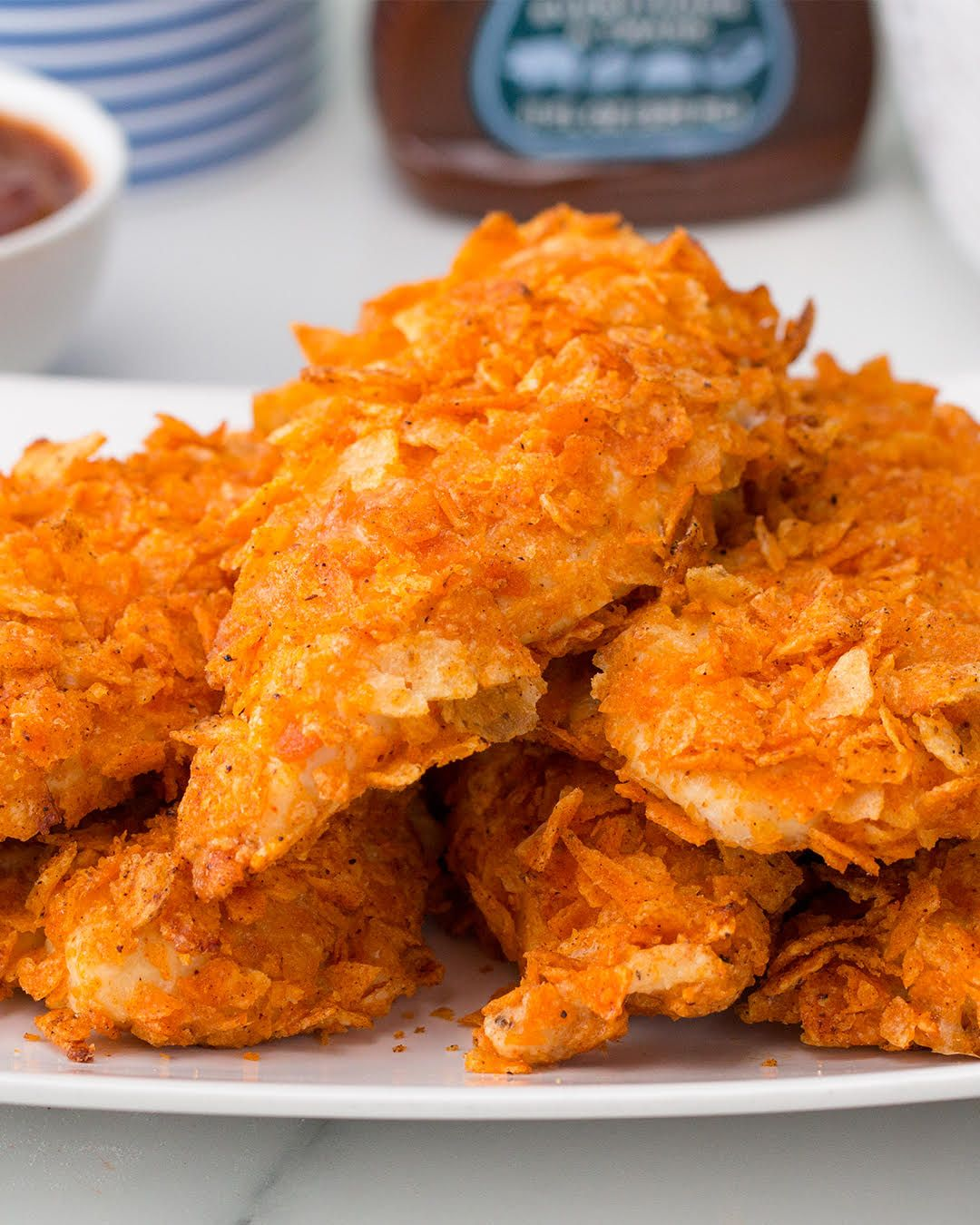 Crispy Kettle Chip Chicken Strips In 2020 Cooking Recipes Food Recipies Workout Food