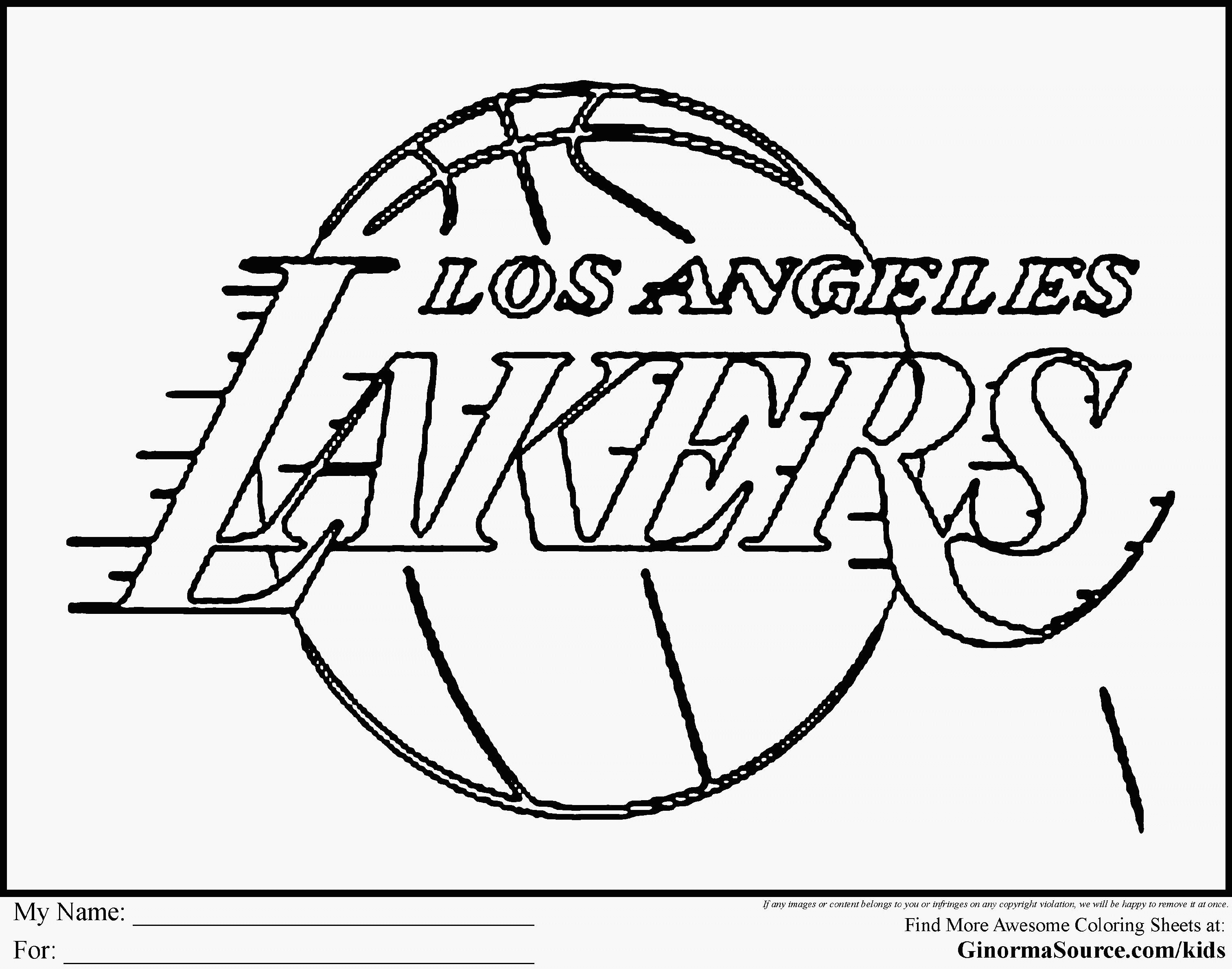 25 Coloring Pages Basketball Player Coloring Pages Coloring Pages For Boys Lakers Logo