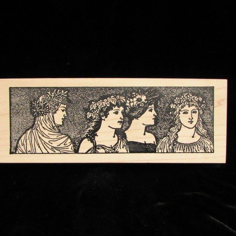 Stampa Rosa Four Seasons Greek Goddess Maidens Ladies L 59-637 | Etsy