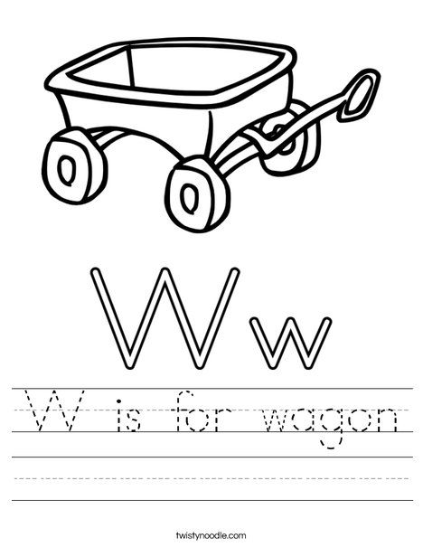 W is for wagon Worksheet - Twisty Noodle   Worksheets ...