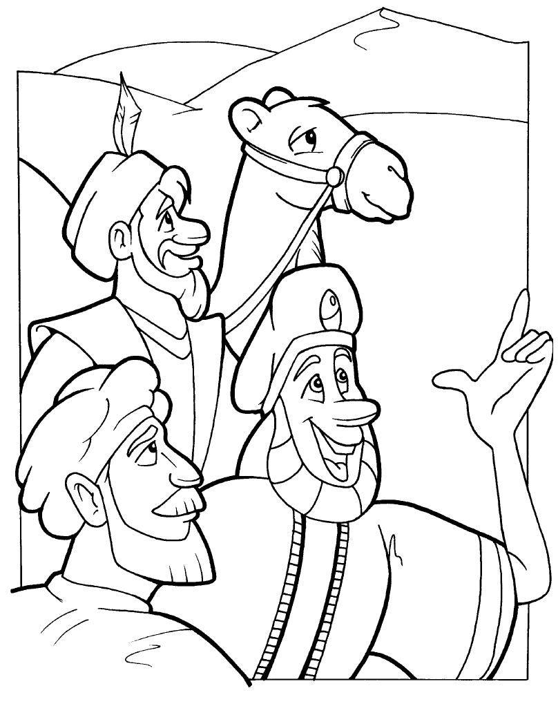 Dorable Dibujo De Tres Sabios Para Colorear Festooning - Ideas ...