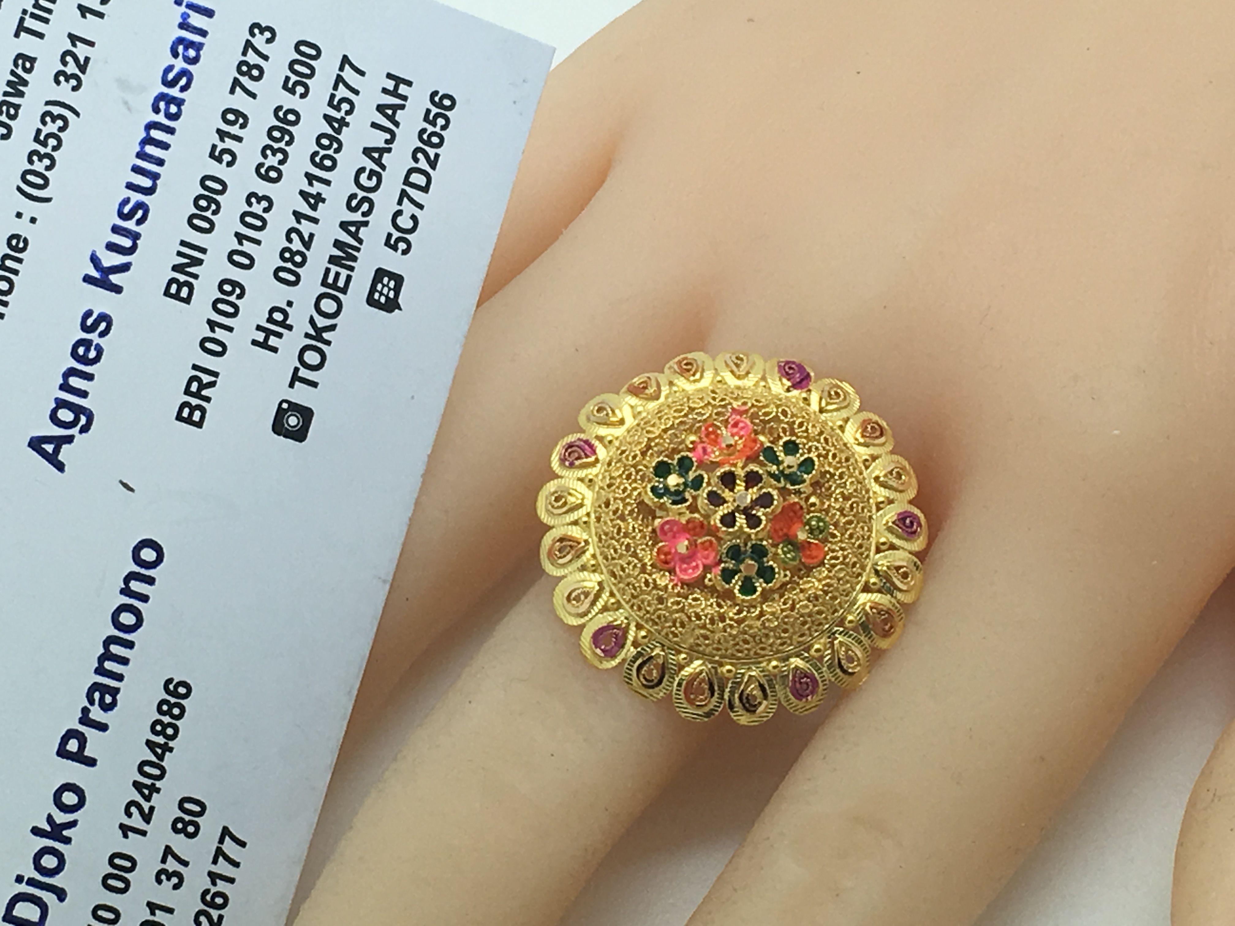 22k / 91,6 Gold Dubai / India Peacock Feather Ring size