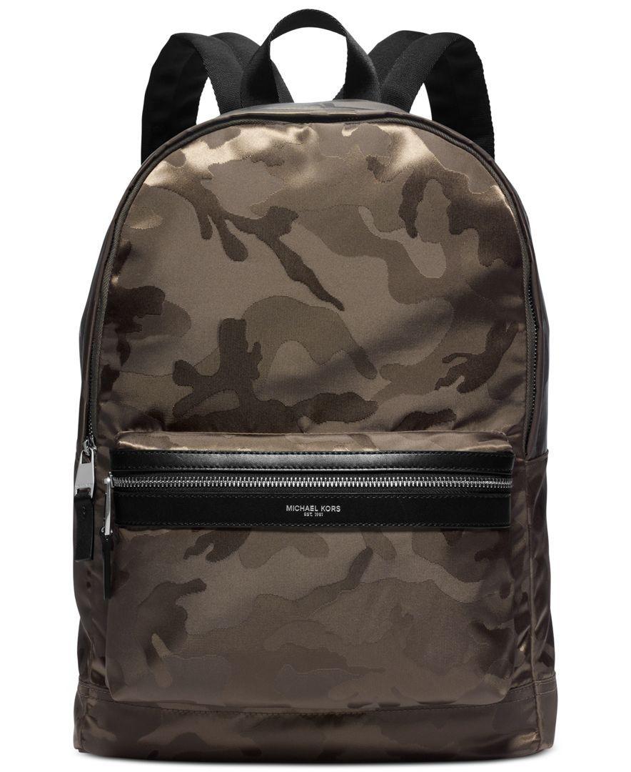 07a8fee429e9 Michael Kors Kent Camo Backpack