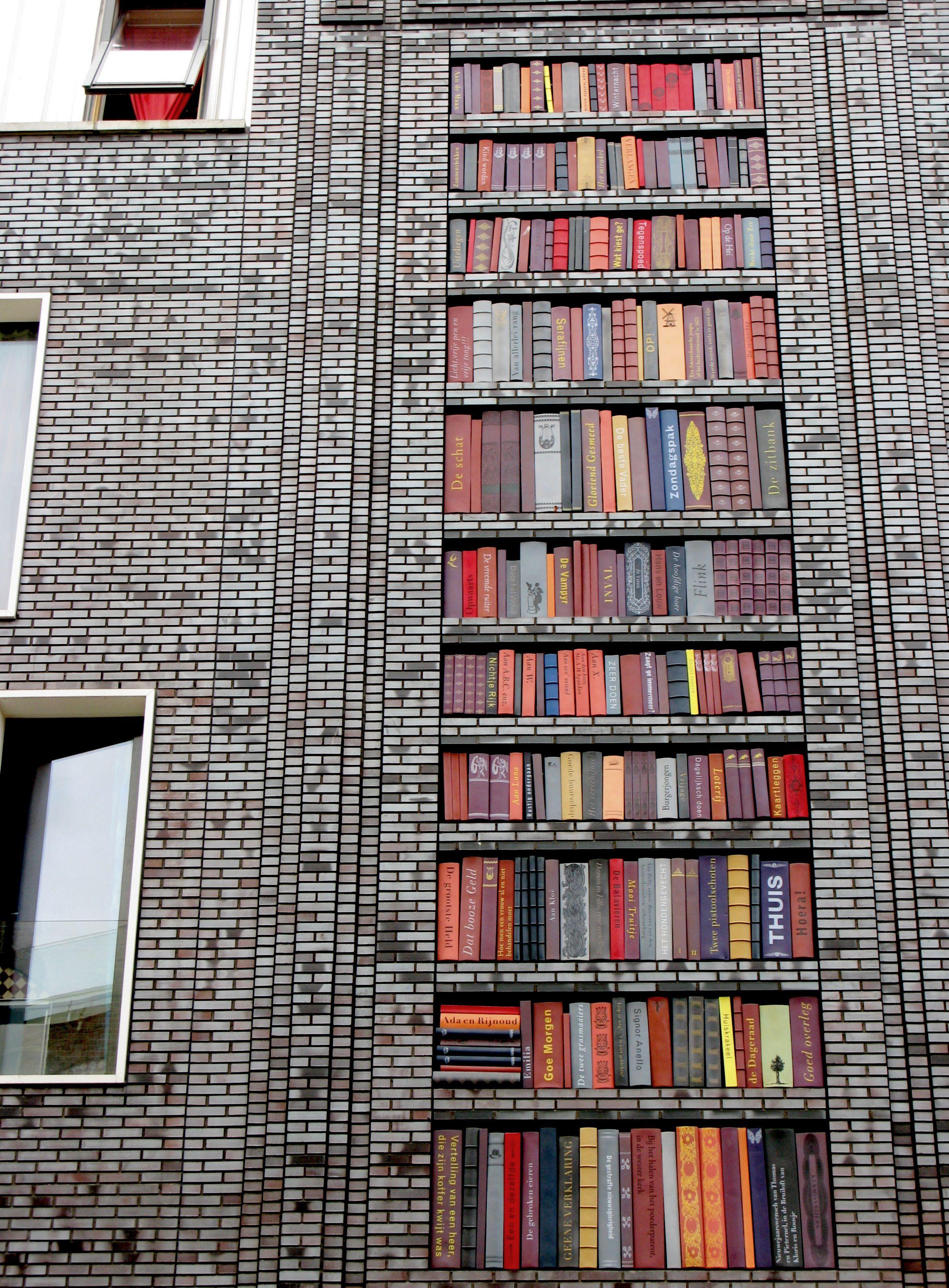 Building in Amsterdam West, designed with ceramic books