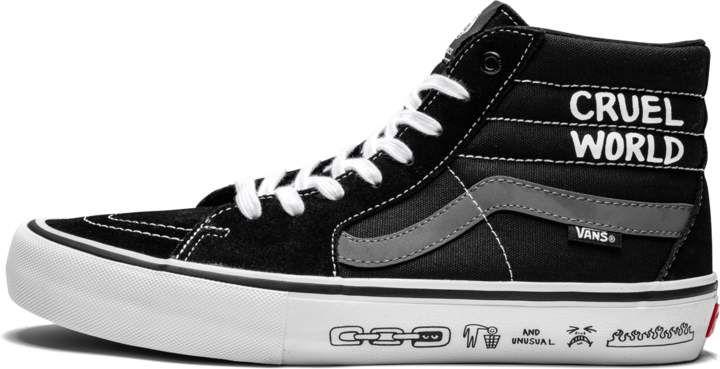 Vans Black X Cult Sk8 hi Pro Mens Shoes for men