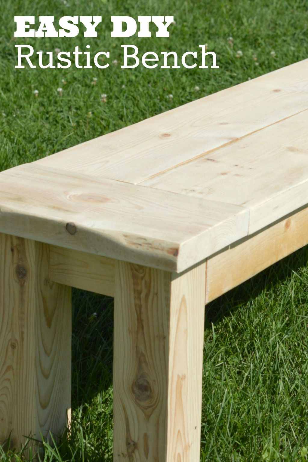 DIY Rustic Bench. Click the picture to learn how to build this DIY seating bench! http://scrappygeek.com/diy-seating-bench/