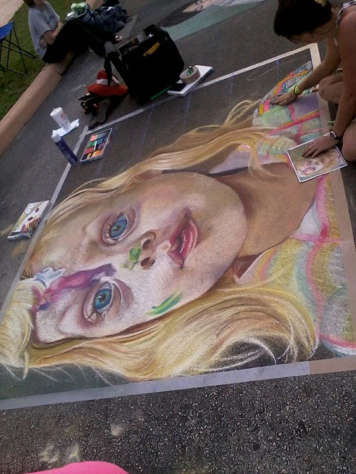 Chalk Picture, amazing work by this artist - my photo