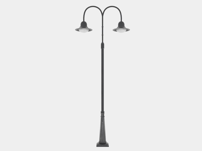 Double Arm Lamp Post 3d Model Lamp Modern Table Lamp Lamp Post