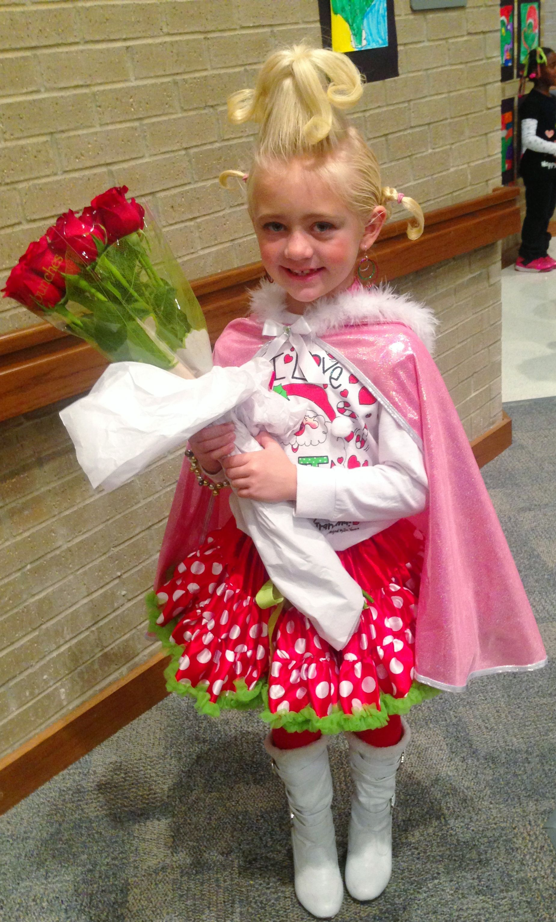 How to make your own grinch costume - Dresses The Girls Up Like This Tonight Little Cindy Lou Who How The Grinch Stole Christmas Costume