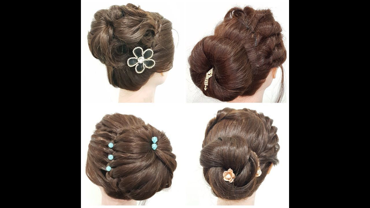 Different Hairstyle For Girls Unique Hairstyle Quick Hairstyle Indian Bridal Hairstyles Wedding Party Hairstyles Indian Bridal Makeup
