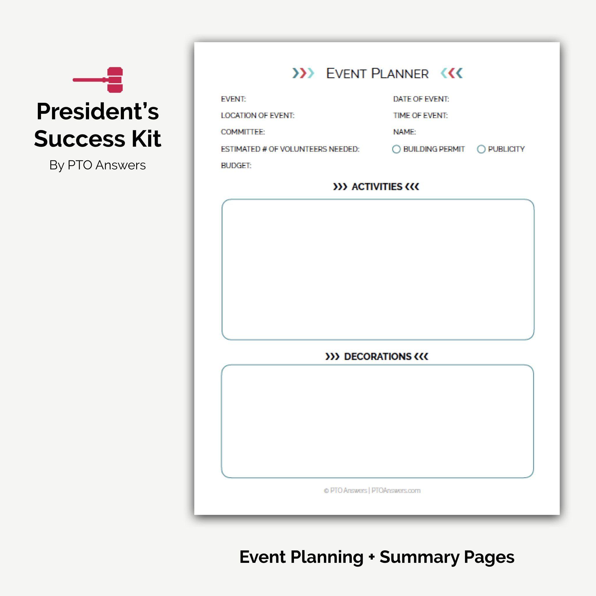 Pta Pto President S Success Kit