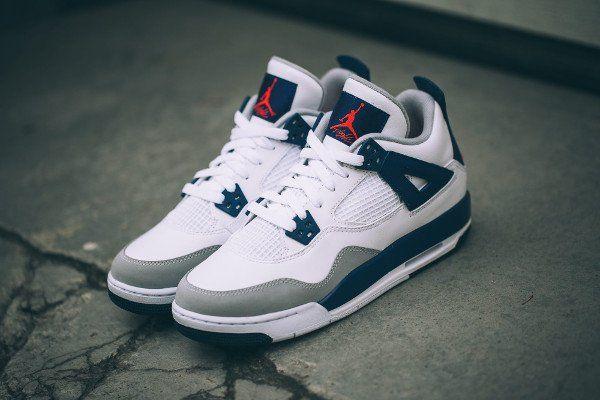 best sneakers cf9f9 68133 Air Jordan 4 Retro GG  Knicks  White Orange Blue