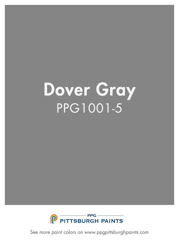 Dover Gray Ppg1001 5 From Ppg Pittsburgh Paints Darker Grays Provide A Deeper Moor Look That Showcases Well With Shiny Silver Accessories