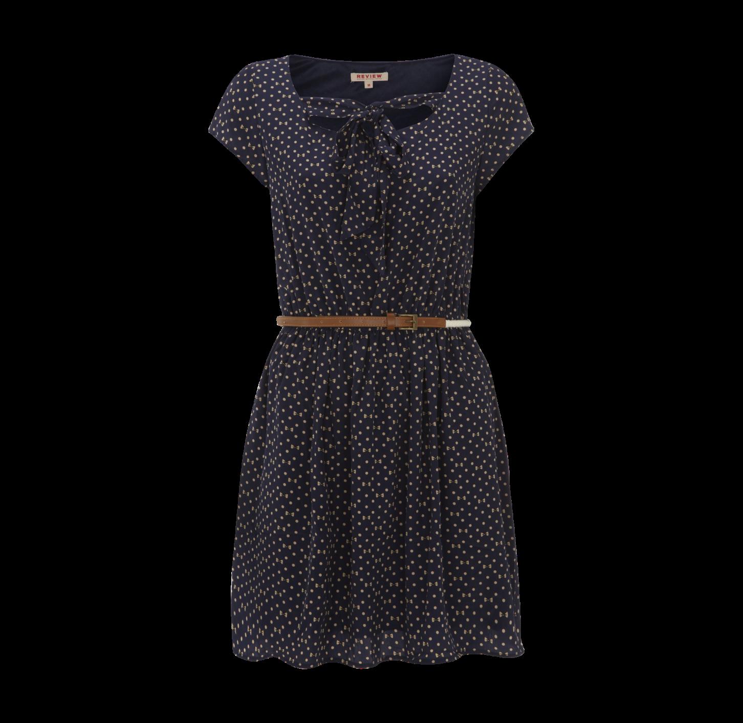 REVIEW Kleid mit Taillenraffung - Vorderansicht