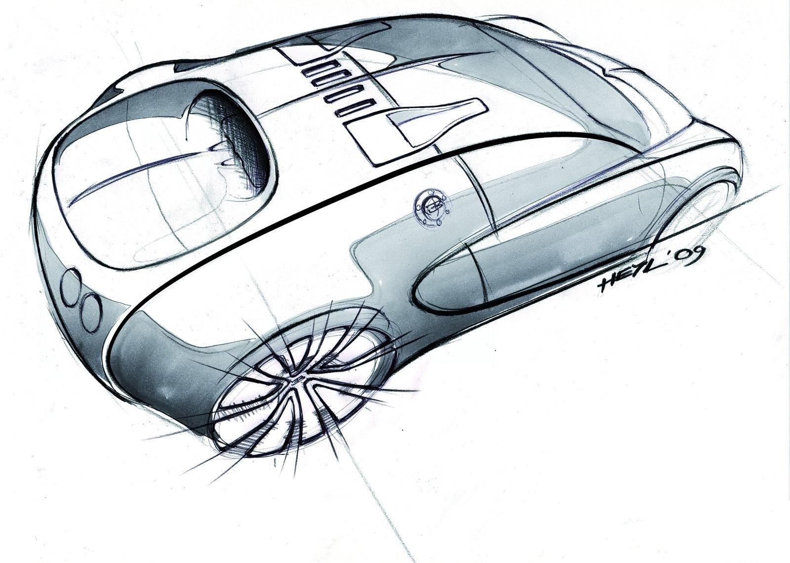 Bugatti Veyron automotive industrial design sketch | Design ...