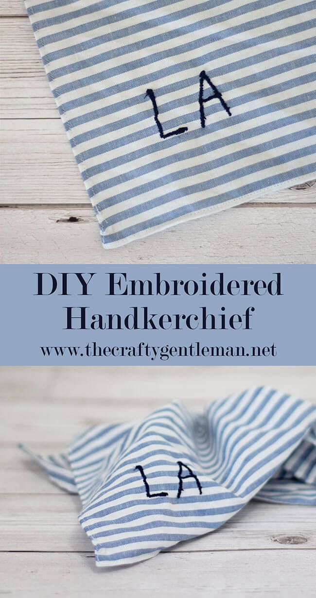 Make an Embroidered Handkerchief | DIY Personalised Pocket Square