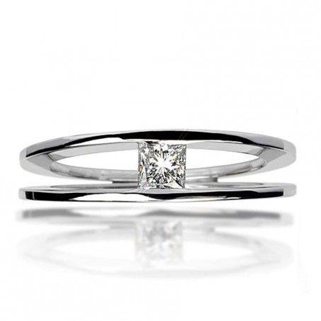 bague solitaire diamant contemporaine