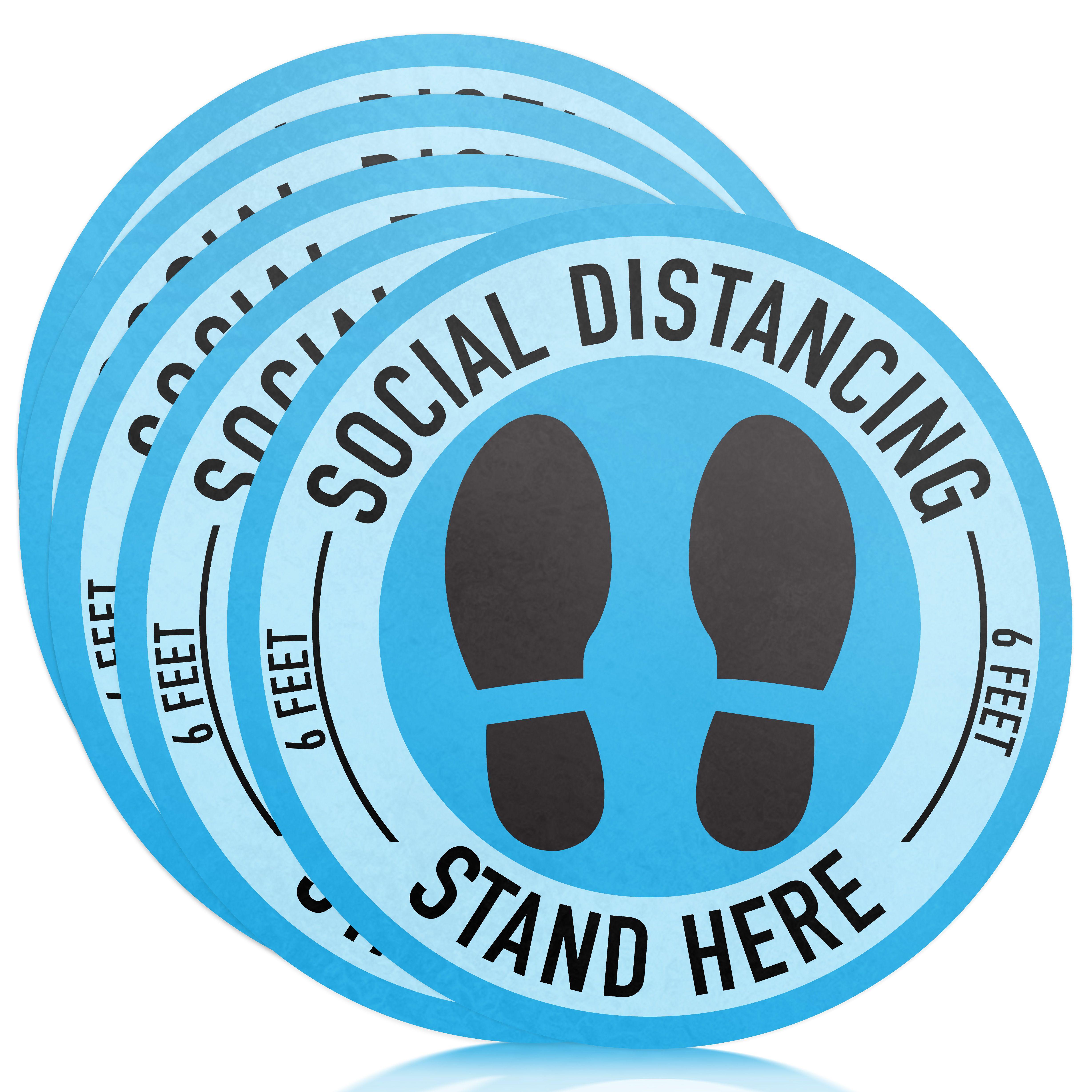 Social Distancing Floor Decals 11 5 Pack 6 Feet Apart Sticker Social Distancing Sign Gadgets And Gizmos Floor Decal Floor Stickers
