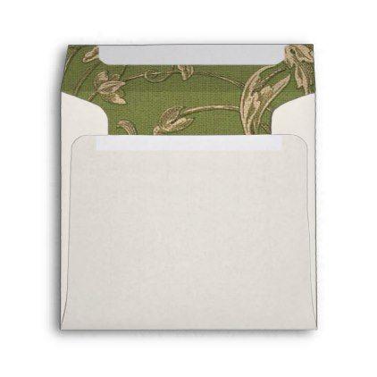 Vintage Pattern Design Custom Wedding Envelopes  Pattern Sample