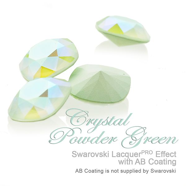 Exclusively from E.H. Ashley - Swarovski LacquerPRO Effect Crystal Powder Green with AB Custom Coating on article #1088at www.ehashley.com #Swarovski #bling #crystals #lacquerpro #green