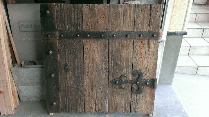 擬木 鉄飾りの造形 モルタル Diy 造形 モルタル