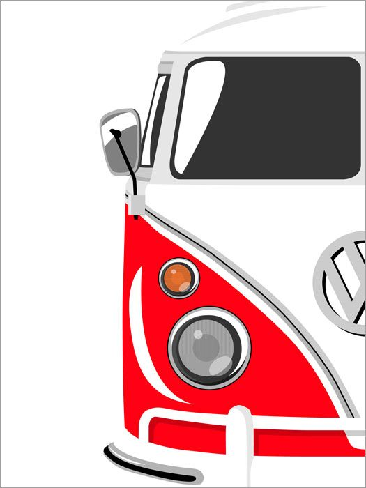 camper van retro pop art print poster s720 vw combi california pinterest voiture. Black Bedroom Furniture Sets. Home Design Ideas