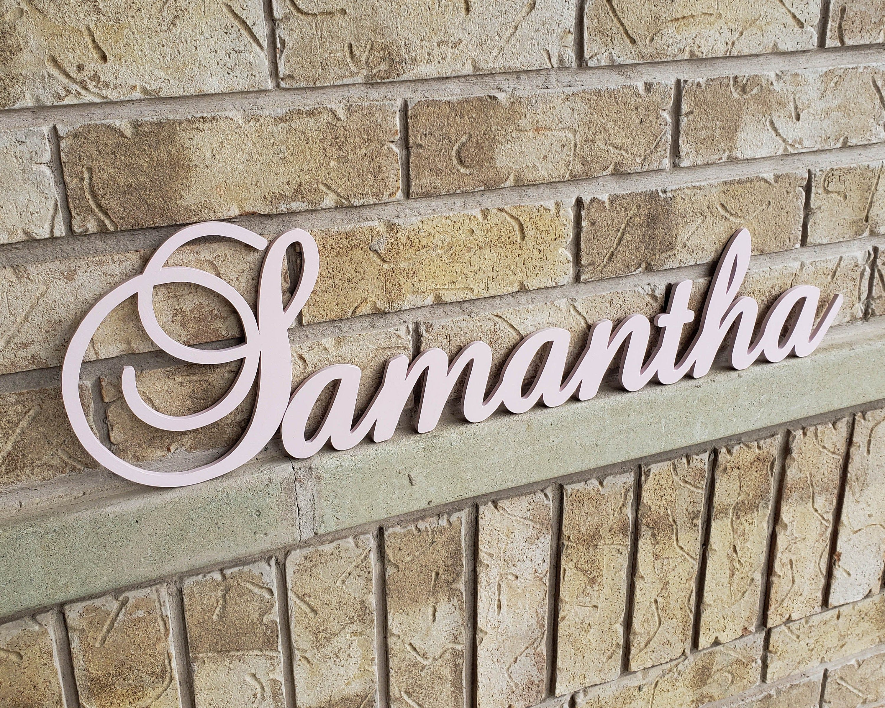 Large Wooden Letters For Nursery Decor Nursery Name Sign Baby Name Sign Personalized Wood Letters Kids Name Sign In 2020 Wooden Letters For Nursery Large Wooden Letters Wooden Name Signs