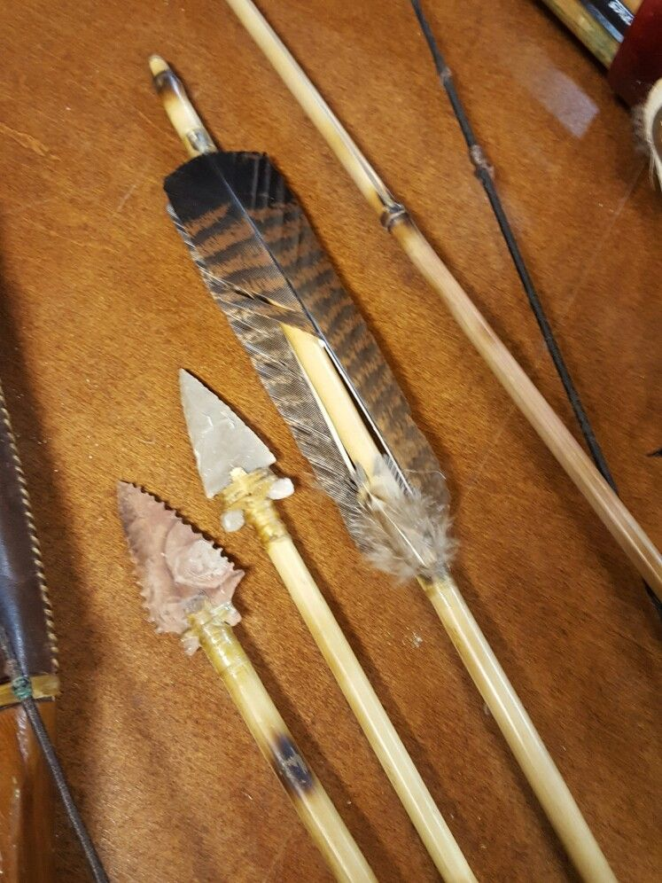 River Cane arrows with stone points. Work of RedOak