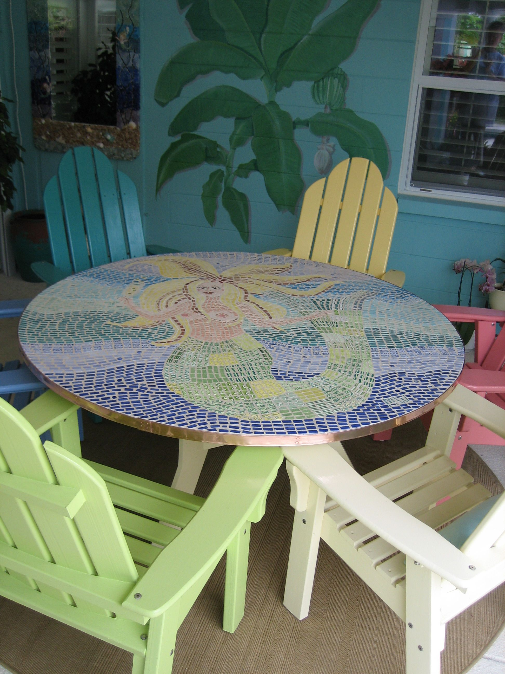 DYI Mosaic Dining Table   When The Stores Didnu0027t Sell The Right Sized Table