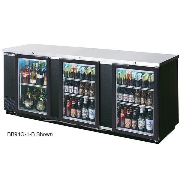 Beverage Air Bb94g 1 S Backbar Refrigerator Glass Doors Stainless Steel Bar Refrigerator Glass Door Refrigerator Glass Door