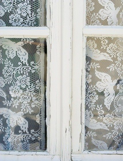 vintage lace curtains for the windows #look1 #anthropologie #pintowin