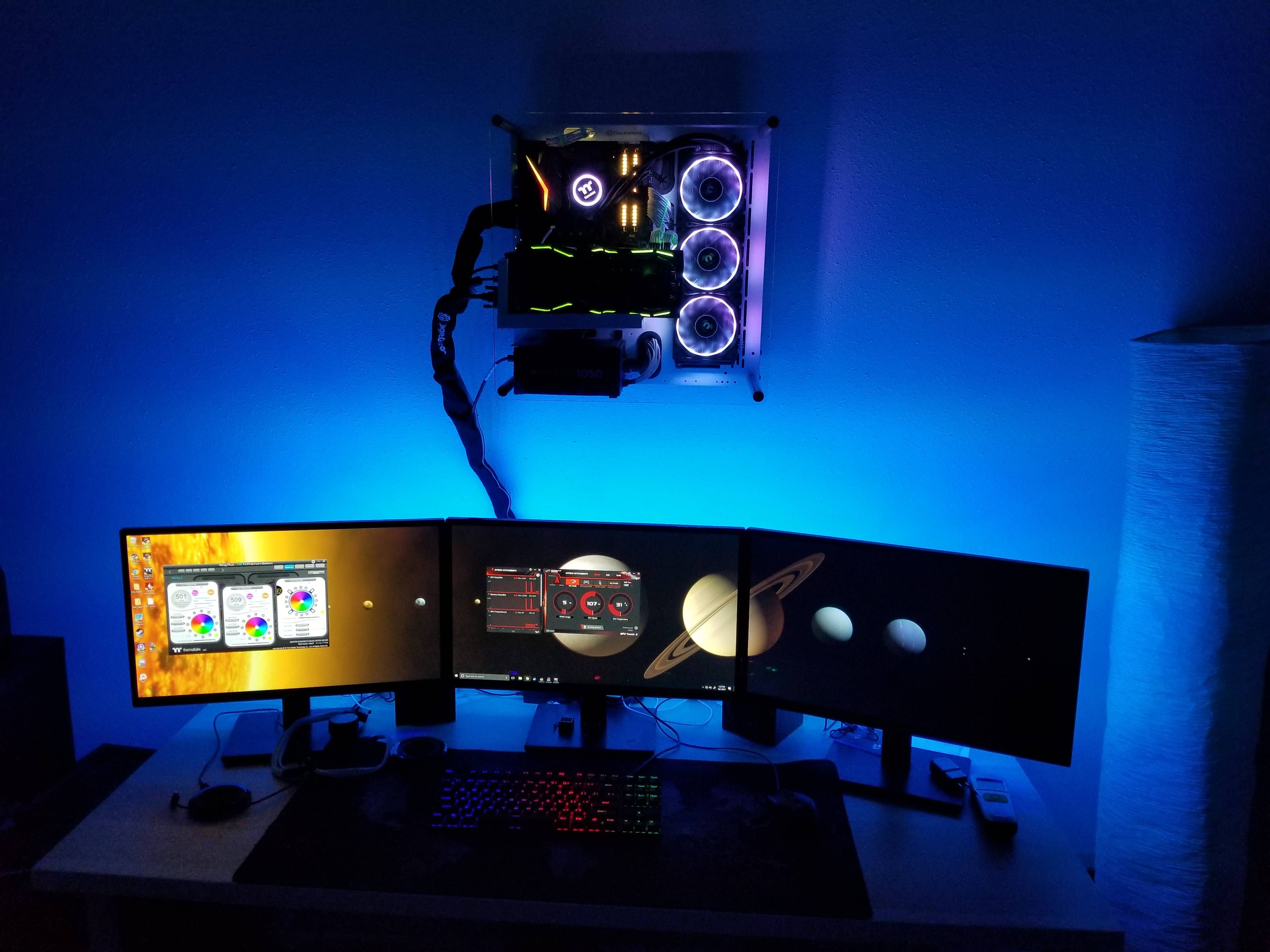 Finally Wall Mounted My Thermaltake P3 Build Video Game Rooms Video Game Room Design Video Game Room