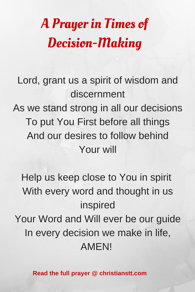 a prayer in times of decision-making | daily prayer | pinterest
