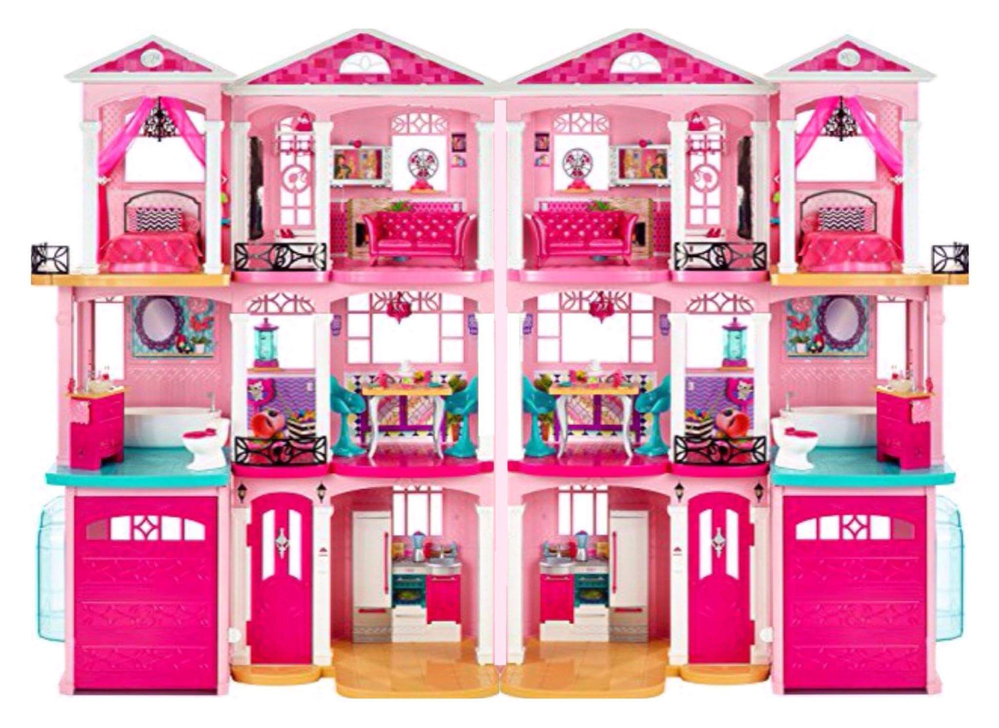 Modified Barbie Dream House 2 Barbie Dream Homes Connected Together Ideas Link Takes You Nowhere Barbie Doll House Barbie Dream House Barbie Doll Set