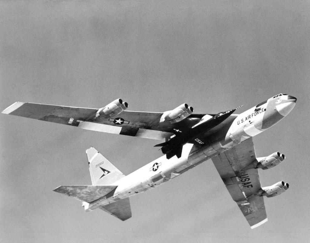 X-15 rocket ship carried by B-52 Mothership #USAF