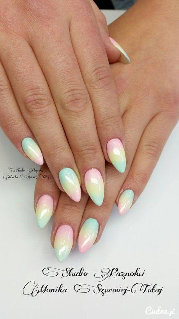 Piękne Pastelowe Ombre Nails In 2018 Nail Art Nails Pastel Nails